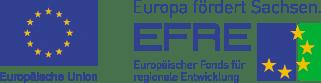 EU-Flagge sowie Logo des Europäischer Fonds für regionale Entwicklung (EFRE)