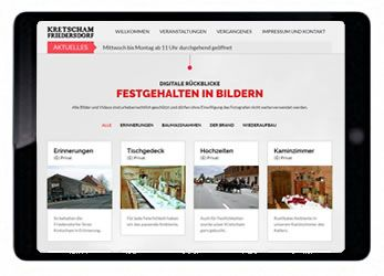 Printscreen der Webseite kretscham.com